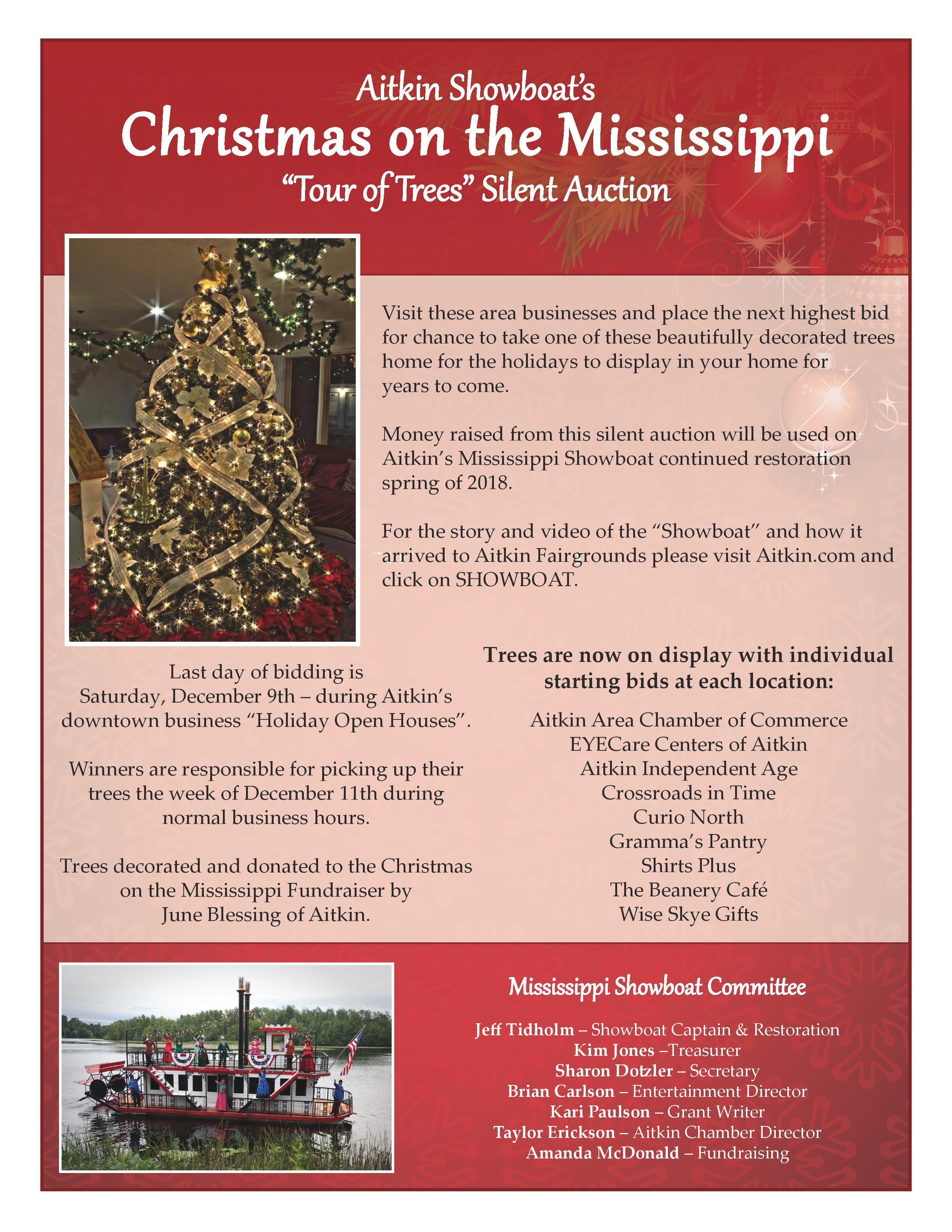 Christmas on the Mississippi Tour of Trees November
